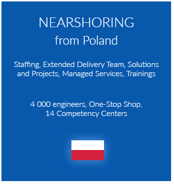Staffing, Extended Delivery Team, Solutions and Projects, Managed Services, Trainings nearshoring