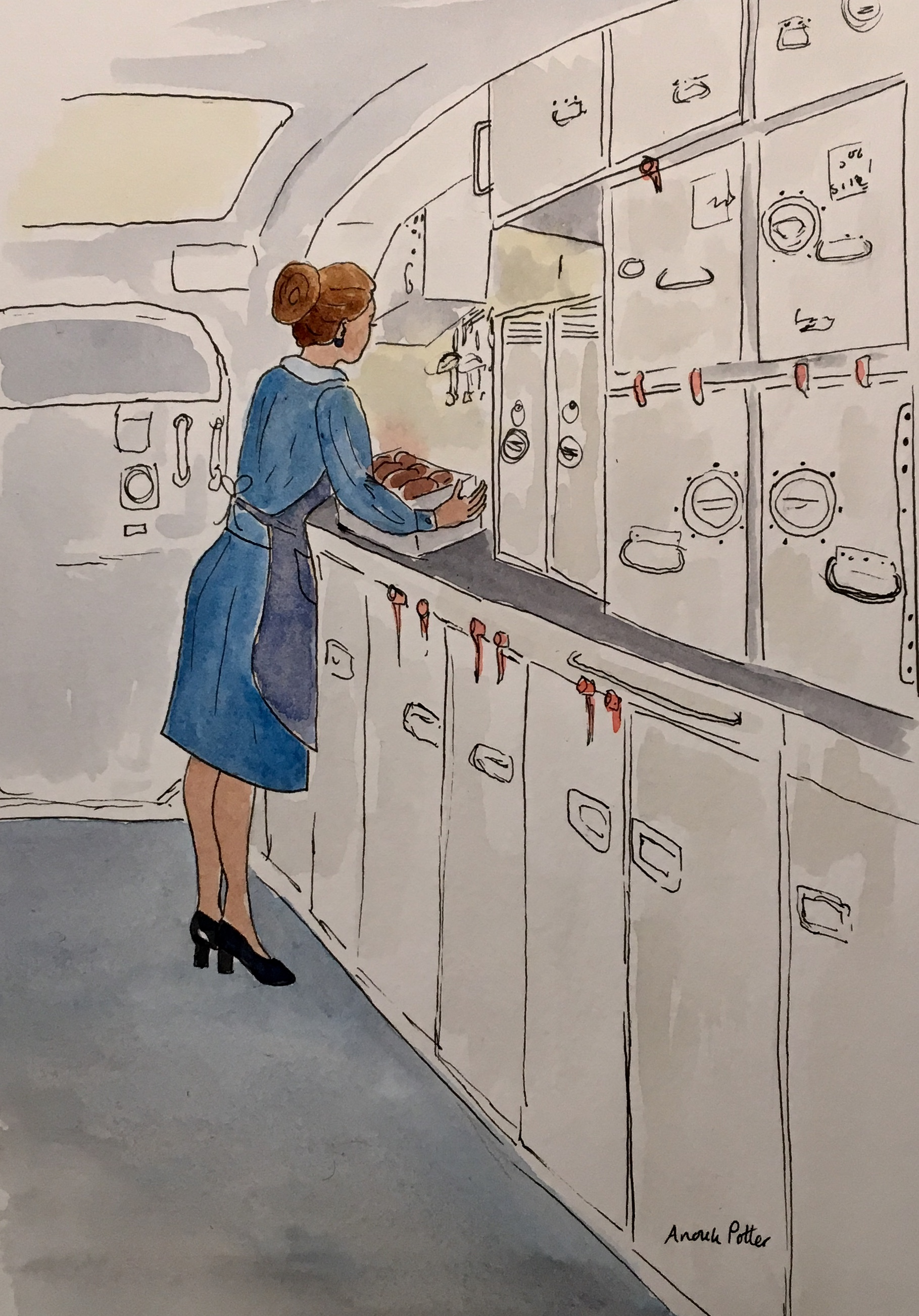 stewardess galley